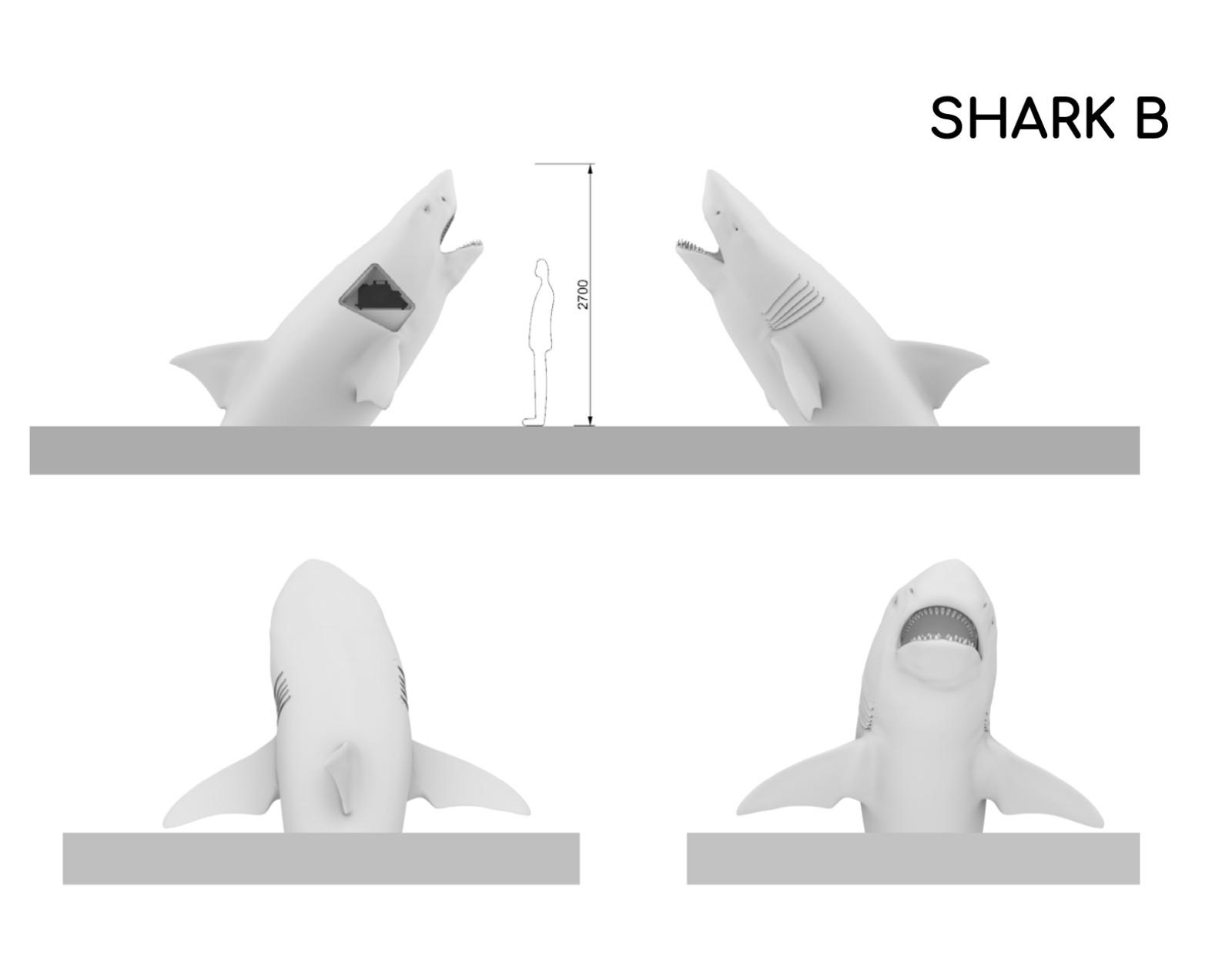 Megalodon shark dimensions